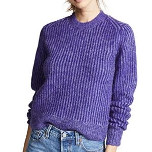 Rag & Bone Purple Jonie Crew Neck Pullover